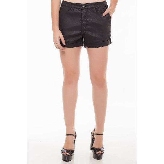 ab89d3036 Shorts Jeans Mid Drop Denúncia Feminina - Preto - Compre Agora ...