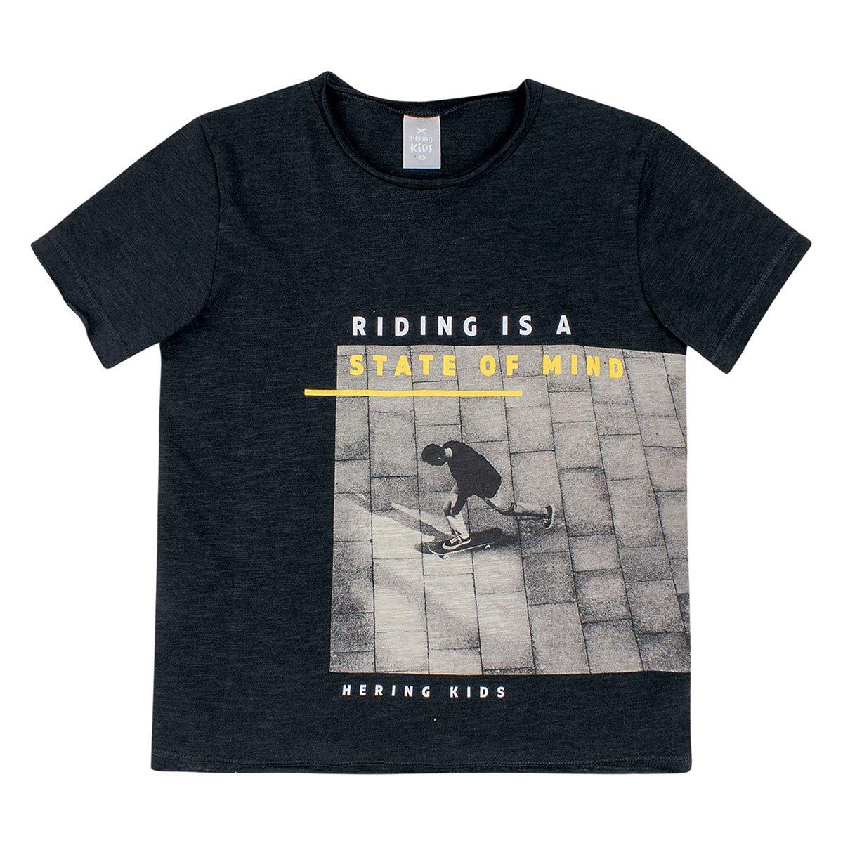 Camiseta Infantil Hering Skate Masculina