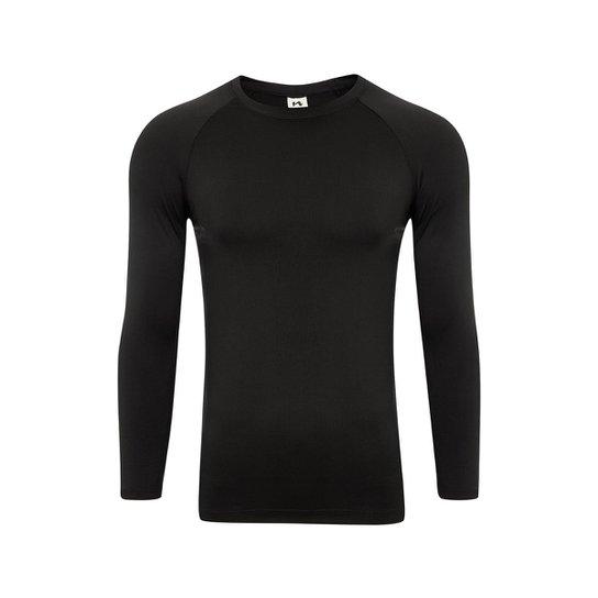 Camisa Térmica Segunda Pele - Preto - Compre Agora  c30691eb1b6a5