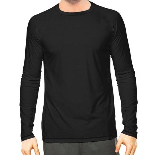f94936a03f Camisa Térmica Camisa da Latinha com Proteção Solar UV50+ Masculina - Preto