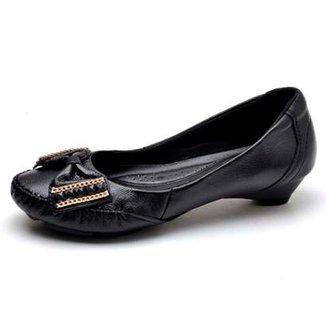 d94c3b84e4 Sapato Top Franca Shoes Mocassim Conforto Salto Grosso Feminino