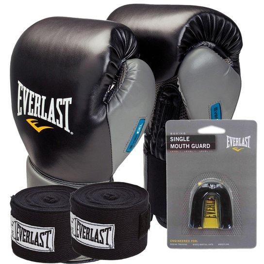 Kit Boxe Everlast Protex 2 Evergel 14Oz Preta - Compre Agora  eb79f6bfcaca4