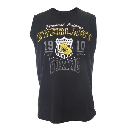 Camiseta Everlast Algodão Machão Básica - Preto - Compre Agora ... 5ad06d7699805