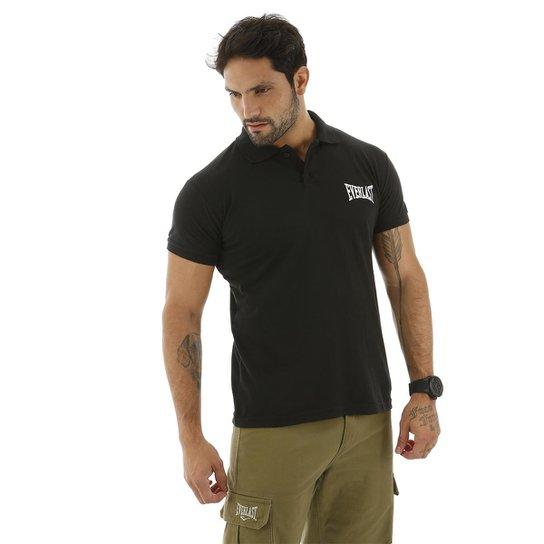 9549babfcd162 Camisa Polo Logotipia Everlast - Preto - Compre Agora