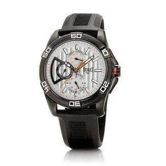17503727028 Relógio Masculino Everlast Pulseira Couro E246 Analógico