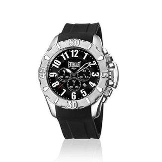 ba67490d29d Relógio de Pulso Everlast Cx Aço Pulseira Silicone Analógico