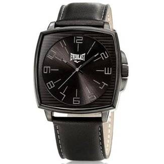 b211cfd3b48 Relógio Pulso Everlast Caixa Aço E Pulseira Couro E208