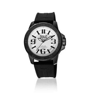 6c07892c59d Relógio Pulso Everlast E695 Caixa Aço E Pulseira Silicone
