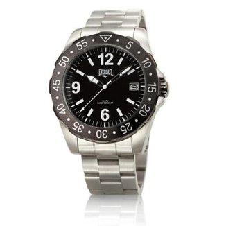 07b79924084 Relógio Pulso Everlast Caixa E Pulseira Aço E267 Masculino