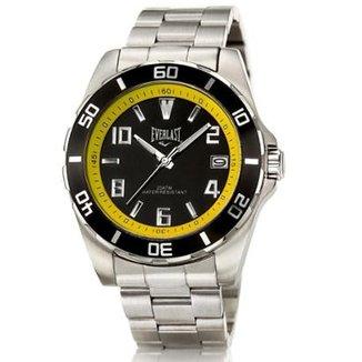 2debdab7419 Relógio Pulso Everlast Caixa E Pulseira Aço E287 Masculino