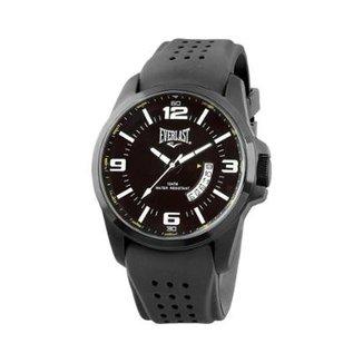 7d86d2e111a Relógio Pulso Everlast Caixa Aço Pulseira Silicone E486