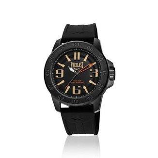 2fc713db8cf Relógio Pulso Everlast E697 Caixa Aço E Pulseira Silicone
