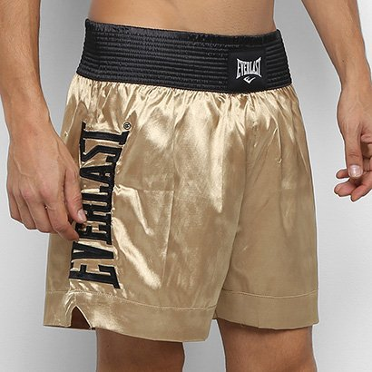 Shorts De Muay Thai/Boxe Everlast C/ Bordado Assinatura