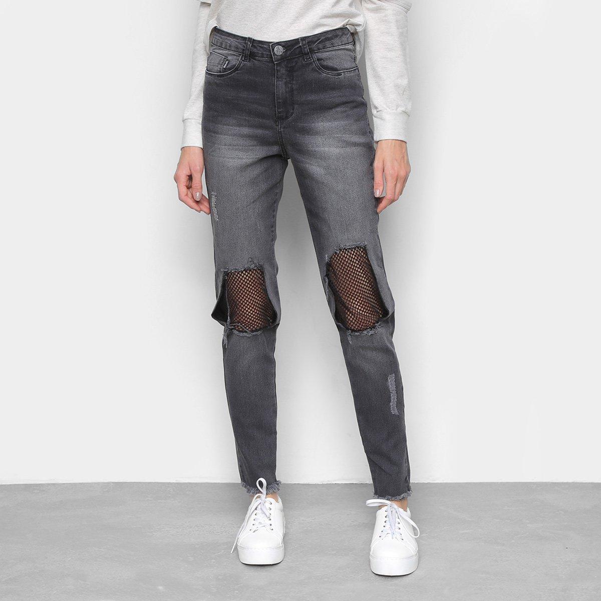 Calça Jeans Everlast Boyfriend Tela Feminina