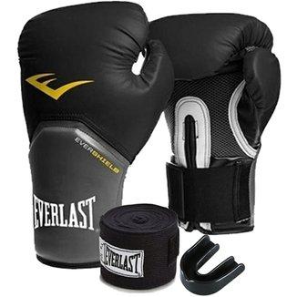 e66c6be68 Kit Boxe Elite Everlast 14Oz Preta