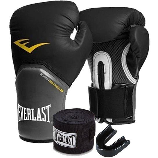 ca4df7957741b Kit Boxe Elite Everlast 14Oz Preta - Preto   Netshoes