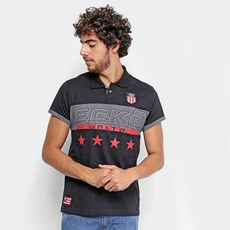238489b89e Camisa Polo Ecko Estampada Manga Curta Masculina