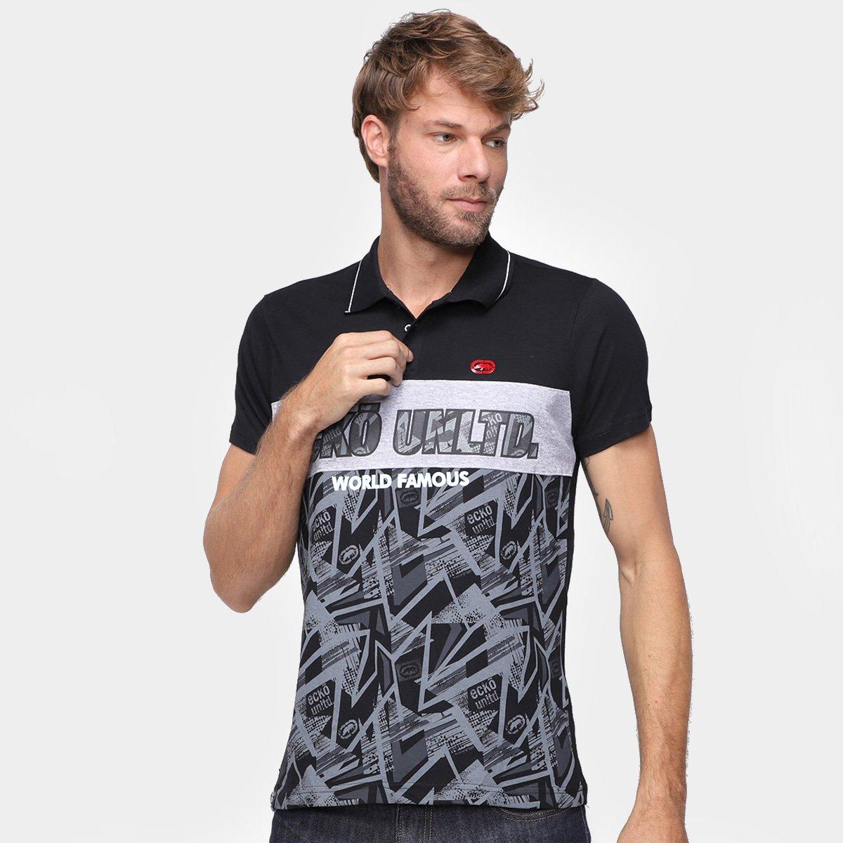 Camisa Polo Ecko World Famous Masculina
