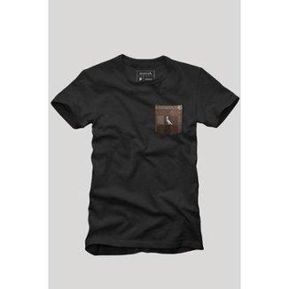 Camiseta Bolso Xadrez Quadrilha Reserva Masculina 7050ebefd497f