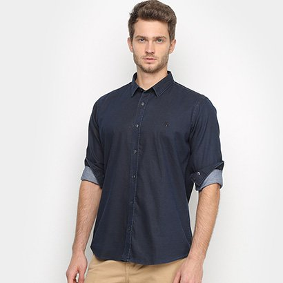 Camisa Jeans Reserva Guapi Manga Longa Masculina