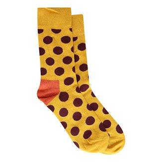 573c28a33 Meia 3 4 Happy Socks Big Dot Sock Feminina