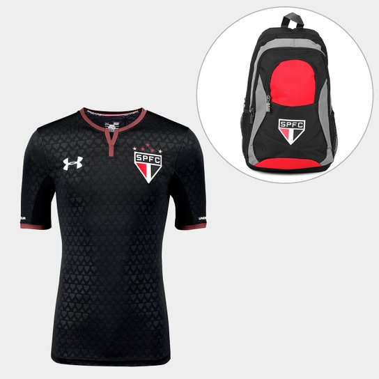 da0e617f720 Kit Camisa São Paulo III 17 18 s nº - Jogador Under Armour Masculina ...