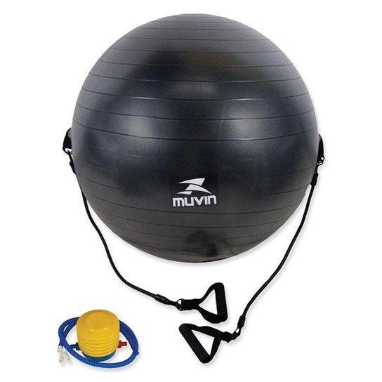 Bola de Pilates com Extensor - 65cm Muvin BLG-400 - Preto - Compre ... c4774489546ac