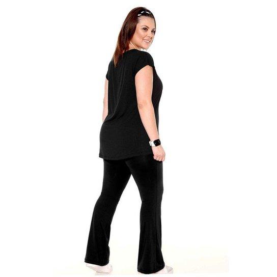 85708c253 Calça Flare Plus Size Trinys - Preto   Netshoes