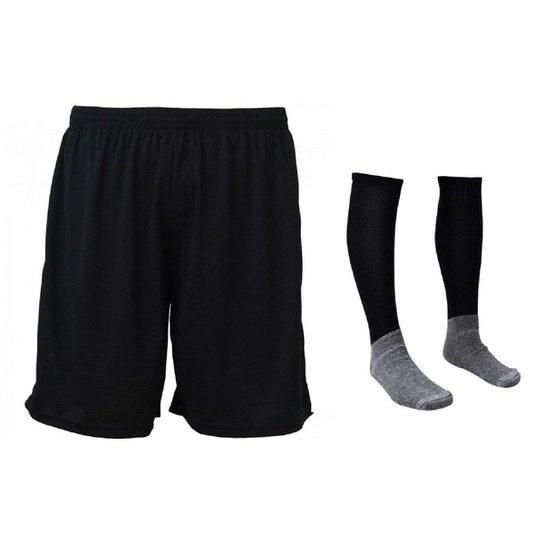 a74d79c0b54a Kit-Calção e Meião de Futebol Liso Branco | Netshoes