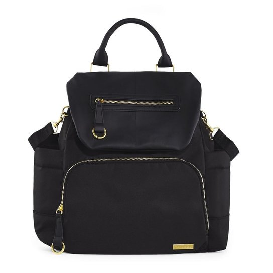 Bolsa Maternidade Skip Hop Coleção Chelsea Backpack Black - Preto ... 1f4864ff61177