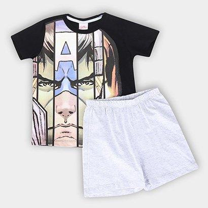 Pijama Infantil Evanilda Avengers Masculino