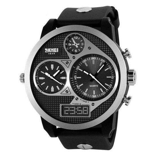 76e6d7cc83f Relógio Skmei Anadigi 1033 PT - Preto - Compre Agora