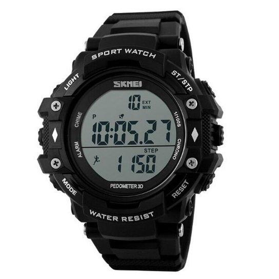 73e1d7622f8 Relógio Skmei Digital Pedômetro 1128 - Preto - Compre Agora
