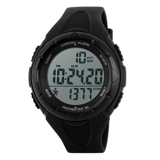 936cb7f8919 Relógio Skmei Pedômetro Digital 1108 - Preto - Compre Agora