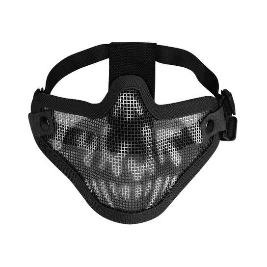 3030facc3 Máscara de Proteção Airsoft QGK Strike Meia Face Caveira | Netshoes