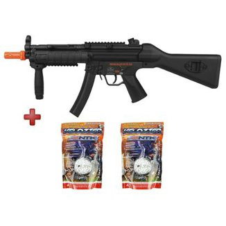 Rifle Airsoft Elétrico QGK M5F Tactical Full Metal Bivolt + 02 Sacos BB Nautika 0.12g