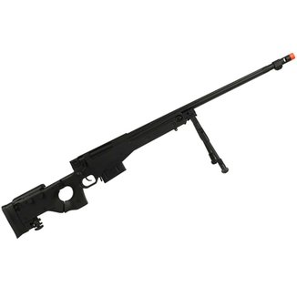 Rifle Airsoft GBB Well Sniper G96B Semi-Metal Preto + Bipé Full Metal