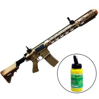 f4de3fb36cc Rifle Airsoft M4A1 Elétrico Cyma Automático CM518 + 2000 Munições - 6mm