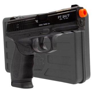 6c1b6531af Airsoft Kit Pistola Airsoft Taurus PT24 7 Cybergun + Maleta Rígida VNTR +  Magazine Extra
