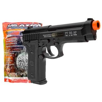 66d1ea222e Airsoft Kit Pistola Taurus Pt92 Slide Metal + Bbs