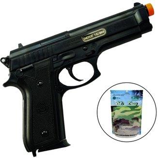 093240961eb75 Pistola Airsoft Taurus PT92 Cybergun Spring 200 FPS + Munições 4000 Unid