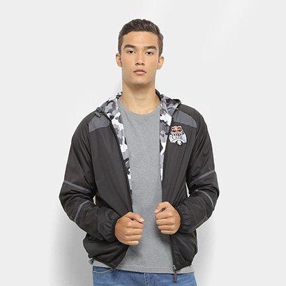 ef7728ca05 Jaqueta Red Bull Windbreaker Dupla Face Camuflada Skate Generation Masculina