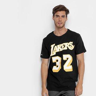 Camiseta NBA Los Angeles Lakers Mitchell   Ness Magic Johnson Masculina 7f22f444061cd