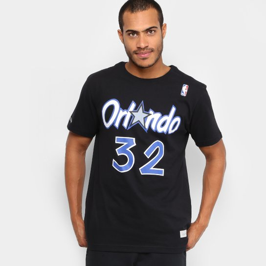 Camiseta Mitchell   Ness NBA Name And Numbers Shaquille O Neal Masculina -  Preto e17b2c8d1a3