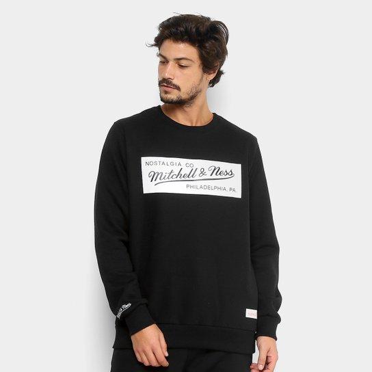 59bc373428b Moletom Mitchell   Ness Brand Masculino - Preto - Compre Agora ...