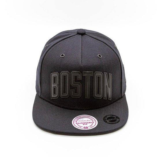 44996283fe628 Boné Mitchell   Ness Superior NBA Boston Celtics Snapback - Preto ...