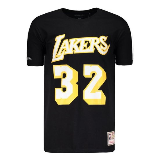 Camisa Mitchell   Ness NBA Los Angeles Lakers Masculina - Compre ... bd1647c5a28