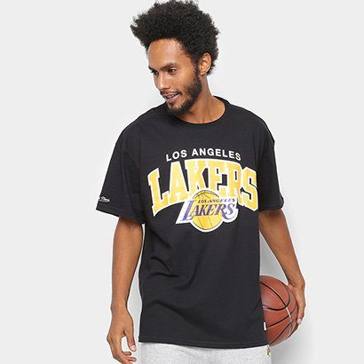 Camisa Mitchell & Ness Time Arch Los Angeles Lakers Masculina