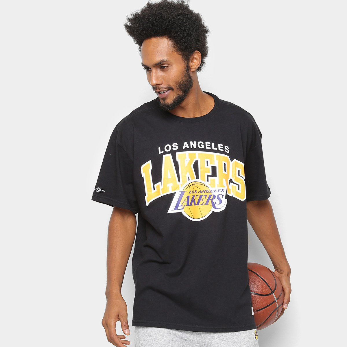 Foto 1 - Camisa Mitchell & Ness Time Arch Los Angeles Lakers Masculina