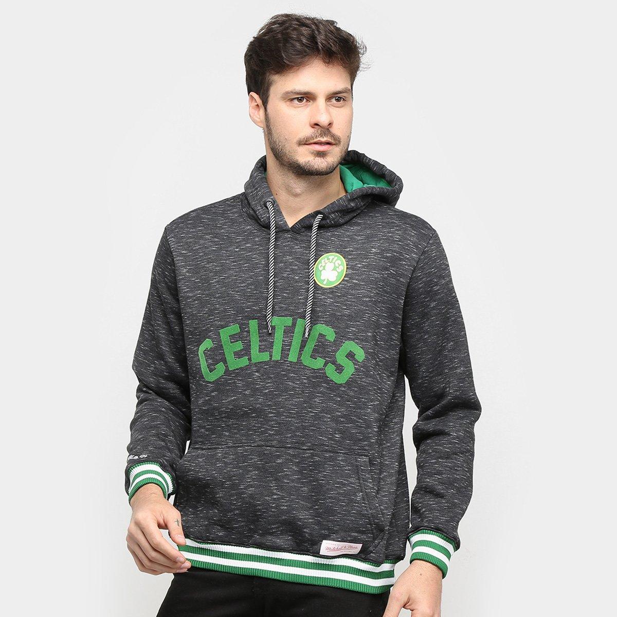 Moletom NBA Boston Celtics Mitchell & Ness Mescla Masculino